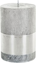 Kaars Rustic silver pillar 10x7