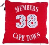 In The Mood Cape Town Sierkussen - Rood - 50x50 cm