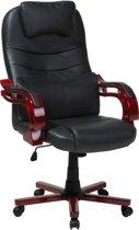 Beliani general - Bureaustoel - Kunstleer - zwart - 65x65x120