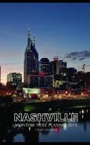 Nashville Monthly Note Planner 2019 1 Year Calendar