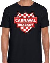 Carnaval verkleed t-shirt Brabant - zwart- heren - Brabantse feest shirt / verkleedkleding XL
