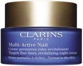 MULTI BUNDEL 2 stuks Clarins Multi-Active Night Cream Normal to Dry Skin 50ml