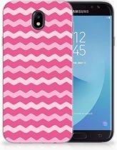 Samsung Galaxy J7 2017   J7 Pro TPU siliconen Hoesje Waves Pink