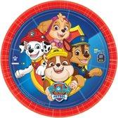 8x Paw Patrol thema feest borden 23 cm - Kinderverjaardag/kinderfeestje Paw Patrol thema borden