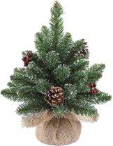 Black Box kerstboom met jute derby maat in cm: 30 x 20 groen