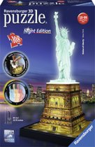 Ravensburger Statue of Liberty Night Edition- 3D puzzel gebouw - 108 stukjes