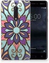 Nokia 5 TPU Hoesje Design Purple Flower