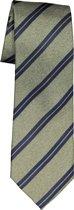Michaelis stropdas - groen met blauw gestreept