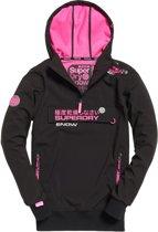 Superdry Snow Tech Wintersportjas - Maat M  - Vrouwen - zwart/ roze