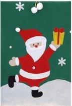 Cadeauzak Kerstman groen 97 cm - Kerst versiering