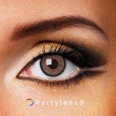 Kleurlenzen 'Grey Stripes' jaarlenzen inclusief lenzendoosje - grijze contactlenzen Partylens®