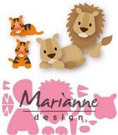 Marianne Design Collectable Elines leeuw / tijger COL1455 100x75 milimeter