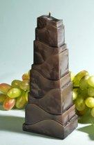 Torenkaars, zwart Polymico, hoogte: 21 cm