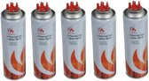 5x Aansteker gas / butaan gasfles - 250 ml - aanstekervulling