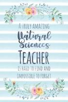 A Truly Amazing Natural Sciences Teacher Is Hard to Find and Impossible to Forget