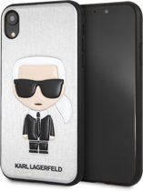 Karl Lagerfeld Backcover hoesje Zilver - Cool Karl - TPU - iPhone XR  - Siliconen rand