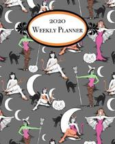 2020 Weekly Planner: Halloween pinups 1 year weekly planner with monthly calendar pages and pages for notes and contacts