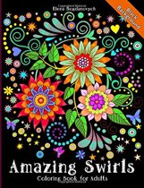Amazing Swirls Black Background Coloring book for adults