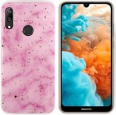 BackCover Marble Glitter voor Huawei P30 Lite Roze