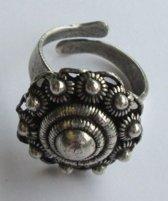 Zeeuwse knop ring verzilverd ZKR304