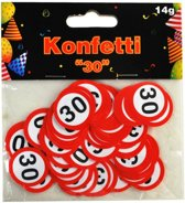 Confetti 30 jaar verkeersbord 14 gram
