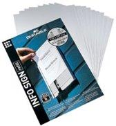 Papieren inlegvellen voor Naambord Info-Sign en Click-Sign, 149 x 52, 5 mm, 50/VE