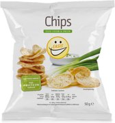 EASIS Chips - Eiwitrijk & Weinig calorieën - 1 zakje (50 gram) - Sour Cream & Onion