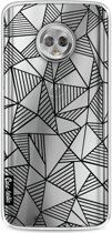 Casetastic Softcover Motorola Moto G6 - Abstraction Lines Black Transparent