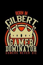 Born in Gilbert Gamer Dominator: RPG JOURNAL I GAMING Calender for Students Online Gamers Videogamers Hometown Lovers 6x9 inch 120 pages lined I Daily