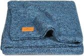 Jollein Stonewashed Knit - Ledikantdeken 100x150 cm - Navy
