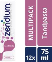 Zendium Sensitive - 12 x 75 ml - Tandpasta  - Voordeelverpakking