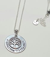 Unieke levensboom ketting - cadeau sieraad mama - naamketting - valentijnscadeau