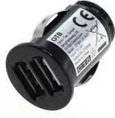 USB autolader met 2 poorten - Smart IC - 2,1A / zwart