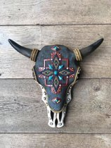 Skull bewerkt gekleurd