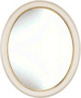 Ovale Spiegel Kevin Buitenmaat 49x59cm Ivoor- goud