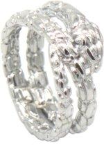 Ring - Slang - RVS - Ringmaat 19 - Zilverkleurig - Dielay