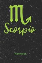 Scorpio Zodiac Sign Notebook: Astrology Journal, Horoscope Notepad, Notes, 120 Pages, blanc lined, 6'' x 9'' diary