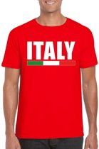 Rood Italy/ Italie supporter shirt heren XL