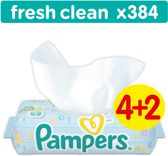 Pampers Fresh Clean - Billendoekjes Navulpak 6x64 st.