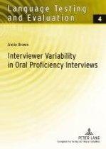 Interviewer Variability in Oral Proficiency Interviews