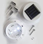 Set van 2 dakgootlampen / tuinlampen / wandlampen op zonne-energie (solar)