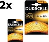 2 Stuks - Duracell 399-395/G7/SR927W 1.5V 52mAh knoopcel batterij