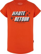 Retour Jeans Meisjes T-shirt - Flame orange - Maat 170/176