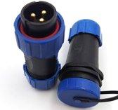 Male + Female - waterdichte kabelverbinder - 3 aderig - IP68