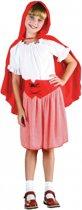 Roodkapje outfit voor meisjes 128 - 6-8 jr