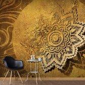 Fotobehang - Gouden mandala , beige bruin