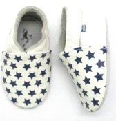 Stabifoot Babysoft babyslofjes wit sterren