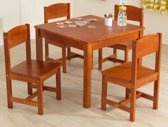 Farmhouse Table & 4 Chairs - Pecan