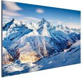 Zonsondergang alpen Aluminium 120x80 cm - Foto print op Aluminium (metaal wanddecoratie)