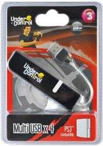 Under Control USB Hub 4-Poorten PS3